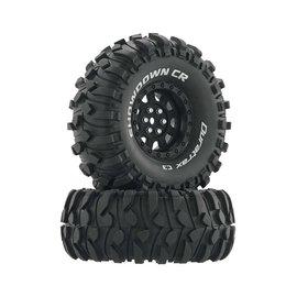 "Duratrax DTXC4034  Black Showdown CR C3 Mounted 1.9"" Crawler Tires (2)"
