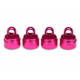 Traxxas TRA3767P Shock Caps Aluminum Pink-Anodized (4) Rustler, Stampede, Slash