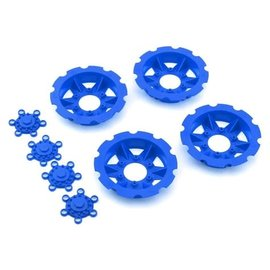 """J Concepts JCO2668-1  Blue """"Tracker"""" Monster Truck Wheel Mock Beadlock Rings (4)"""