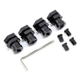 STRC SPTST1654-17BK  Black 17mm Hex Conversion Kit for Slash 4X4,  Rustler 4X4, Stampede 4X4