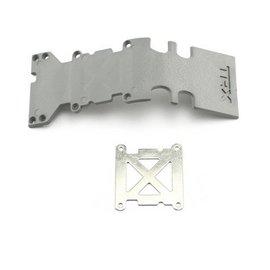 Traxxas TRA4938A  Grey Stainless Steel Rear Skidplate