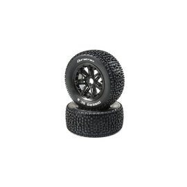 Duratrax DTXC5036  Dinero 1/5 SC Sport Mounted Black Tires 24mm (2)