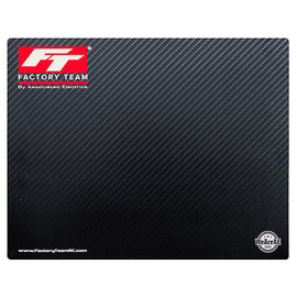 Team Associated ASCSP438  Factory Team Carbon Fiber Print Countertop/Setup Mat