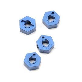 STRC SPTST1654B  Blue Aluminum 12mm Hex Adapters (Blue) (4) (Slash 4x4)