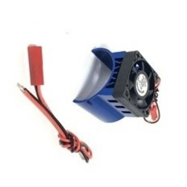 APS Racing APS91146BV3  Blue Alum. Motor Heatsink Ver. 3 w/SUPER Cooling Top Fan for 540 Motor