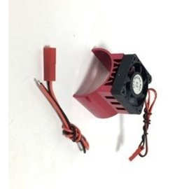 APS Racing APS91146RV3  Red Alum. Motor Heatsink Ver. 3 w/SUPER Cooling Top Fan for 540 Motor