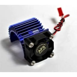 APS Racing APS91148BV3  Blue lum. Motor Heatsink Ver 3 w/SUPER Cooling Side Fan for 540 Motor