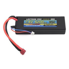 Common Sense RC 2S5200-35D  Lectron Pro 2S 7.4v 5200mAh LiPo w/ Deans Plug