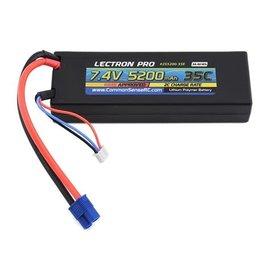 Lectron Pro 2S5200-35E  Lectron Pro 2S 7.4v 5200mAh 35C LiPo w/ EC3 Plug