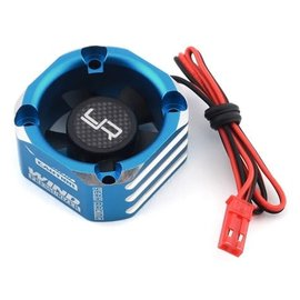 Yeah Racing YEA-YA-0576BU  Blue Aluminum 30x30mm Case Booster Fan