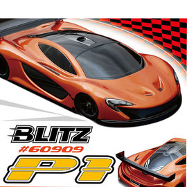 BLITZ BLZ60909-05 BLITZ Lightweight P1 1/12th On-Road Sport Car Clear Body (0.5mm) 61 grams uncut