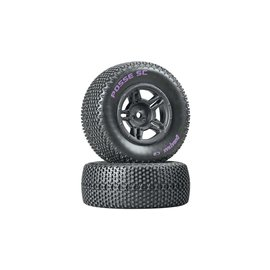 Duratrax DTXC3695  Posse SC C2 Mounted Rear Tires (2) Slash