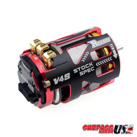 Surpass Hobby USA V4S-21.5  Rocket V4s Spec 21.5T Sensored Brushless Motor Red/Blk