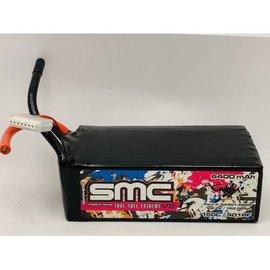 SMC SMC64401-6S2P  Drag Pack 6S 22.2v 6400mAh 150C Softcase LiPo w/ No Plug