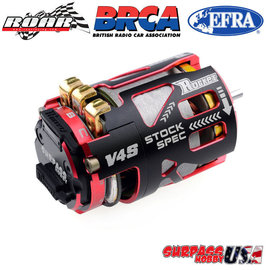 Surpass Hobby USA V4S-17.5  Rocket V4S ROAR Spec 17.5T Sensored Brushless Motor Red/Blk
