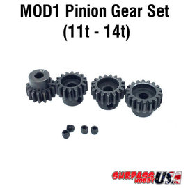 Surpass Hobby USA MOD11114 MOD1 Pinion Gear Set 11T-14T Hard Coated Alloy Steel (4)