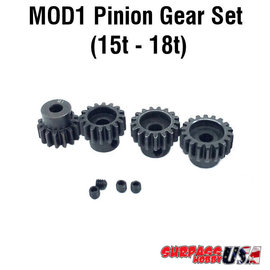 Surpass Hobby USA MOD11518 MOD1 Pinion Gear Set 15T-18T Hard Coated Alloy Steel (4)