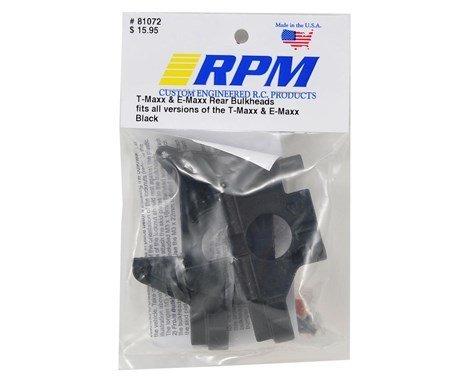 Products Rear Bulkheads for TMaxx /& EMaxx Black RPM81072
