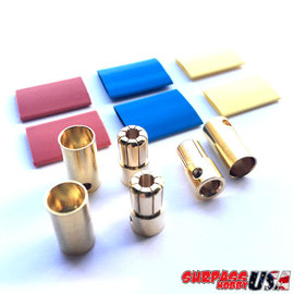 Surpass Hobby USA BUL-65MM 6.5mm Hi Amp Ultra Low Resistance Motor ESC Bullet Connector Set 3pr M/F