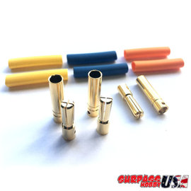 Surpass Hobby USA BUL-40MM 4.0mm Hi Amp Ultra Low Resistance Motor ESC Bullet Connector Set 3pr M/F