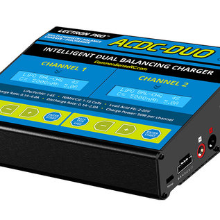 Common Sense RC ACDC-DUO  Two-Port Multi-Chemistry Balancing Charger (LiPo/LiFe/LiHV/NiMH)