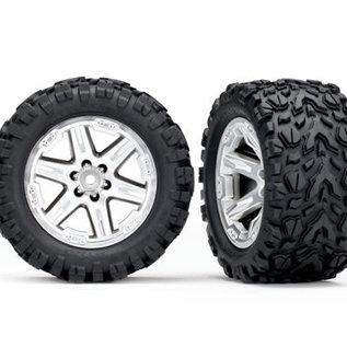 "Traxxas TRA6773R  Chrome Talon Wheels & Tires 2.8"" (2)"