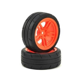 "Traxxas TRA8373A  4-Tec 2.0 1.9"" Orange Response Front Pre-Mounted Tires"