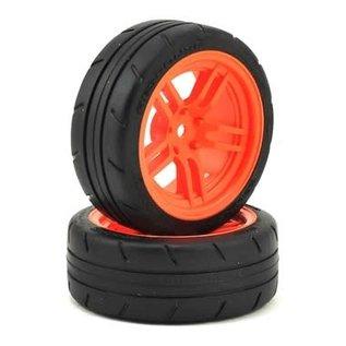 "Traxxas TRA8373A  4-Tec 2.0 1.9"" Orange Response Front Pre-Mounted Tires"