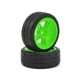 """Traxxas TRA8373G  4-Tec 2.0 1.9"""" Green Response Front Pre-Mounted Tires"""