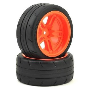 "Traxxas TRA8374A  4-Tec 2.0 1.9"" Orange Response X-Tra Wide Rear Pre-Mounted Tires"