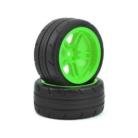 "Traxxas TRA8374G  4-Tec 2.0 1.9"" Green Response X-Tra Wide Rear Pre-Mounted Tires"