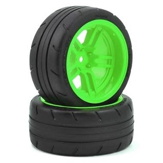 "Traxxas TRA8374G  4-Tec 2.0 1.9"" Green Response X-Tra Wide Rear Pre-Mounted Tires"