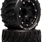Duratrax DTXC5522  Hatchet MT Belted 2.8 2WD Mounted Rear Tires, .5 Offset, Black (2)