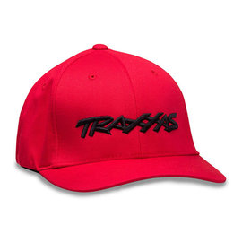 Traxxas TRA1188-RED-SM Traxxas Logo Flexfit Hat  Red Small / Medium