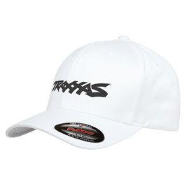 Traxxas TRA1188-WHT-LXL  Traxxas Logo Flexfit Hat White Large / Extra Large
