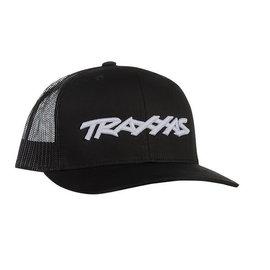 Traxxas TRA1182-BLK  Black Traxxas Logo Trucker Hat Curve Bill