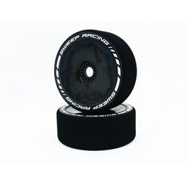 SWEEP SWP443525  Sweep FAST Forward 43mm Hard Foam Tires on Black Dish Wheels for GT8 17mm Hex (2)