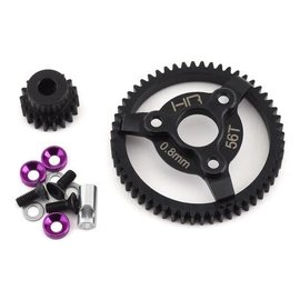 HOT RACING HRASTE256  32P 18T Steel Pinion & 56T Spur Gear Set (Purple)