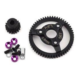 HOT RACING HRASTE256  32P 18T Steel Pinion & 56T Spur Gear Set (Purple)