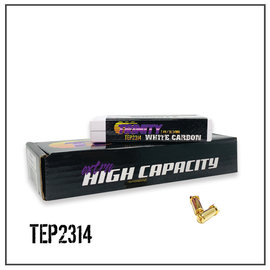 Trinity TEP2314  White Carbon 2S 7.4v 4100mAh 120C LCG Shorty LiPo w/ 5mm Bullets