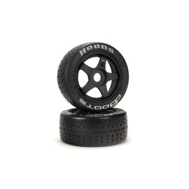 Arrma ARA550070  Silver DBoots Hoons 42/100 2.9 Belted Speed Tire on 5-spoke Black Wheels w/ 17mm Hex (2)