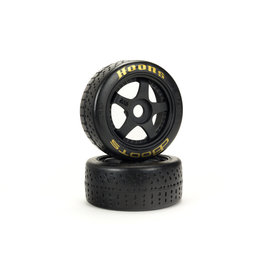 Arrma ARA550071  Gold DBoots Hoons 42/100 2.9 Belted Speed Tire on 5-spoke Black Wheels w/ 17mm Hex (2)