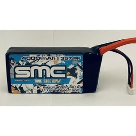 SMC SMC40357-3S1PQS8  True Spec 3S 11.1v 4000mAh 50C Shorty LiPo w/ QS8 Plug