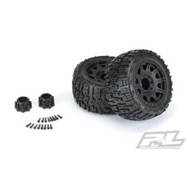"""Proline Racing PRO10175-10  Trencher LP 3.8"""" Pre-Mounted Truck Tires (2) (Black) (M2)"""