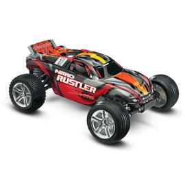 Traxxas TRA44096-3  Silver Red Nitro Rustler w/ TSM RTR