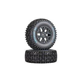 Duratrax DTXC3674  Lockup SC Tire C2 Mounted: SC10 4x4 (2)