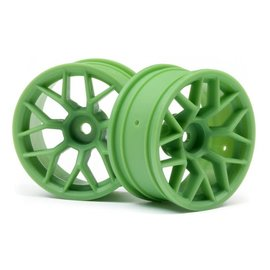 HPI HPI112811  Green RTR Wheel, 26mm width, 6mm Offset (2pcs)