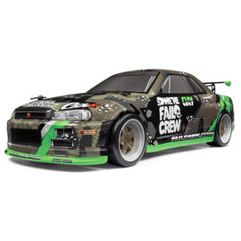 HPI HPI120101  Micro RS4 Drift Fail Crew Nissan Skyline R34 GT-R RTR Ready To Run w/ Battery & Charger