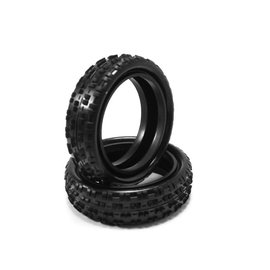 Hot Race Tyres HotRace 1/10 Carpet 2wd Front Tires (2) no inserts