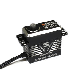 Savox SAVSB2290SG  Monster Torque Brushless Servo, Black Edition 0.16sec / 555.5oz @ 8.4v